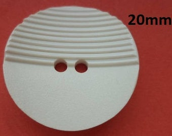 10 Buttons White 20 mm (4487) coat buttons