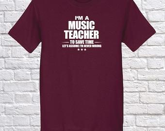 Music Teacher, I am Music Teacher, Music Teacher Occupation Profession Shirt, Music Teacher Christmas gift