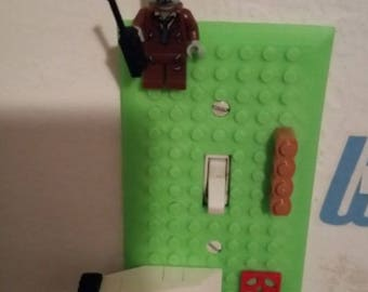 Brick Builder Style Light Switch Cover] Lego ] 3D Printed] Kids Room] Easter] Home Decor