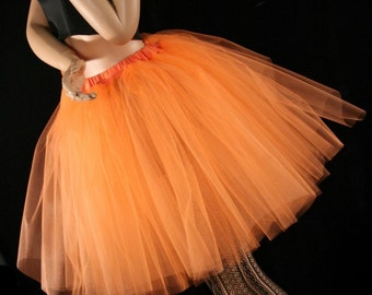 Orange cream Romance tutu skirt extra poofy knee length Adult dance bridal costume -- You Choose Size -- Sisters of the Moon