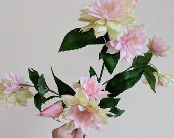 Dahlia, Pink Dahlia, Small Dahlia, Silk Dahlia, Silk Flower, Artificial Flower, Flower Stem, Floral Supply, Wholesale Flowers, Faux Flowers