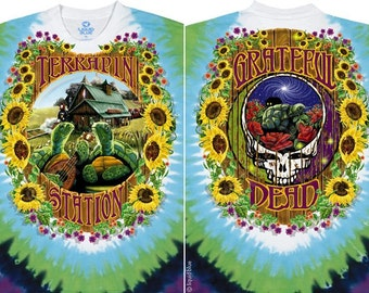 Grateful Dead Terrapin Station  Tie Dye Shirt  Size Large    hippie SYF  Deadhead