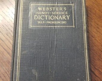 1924 Websters Dictionary