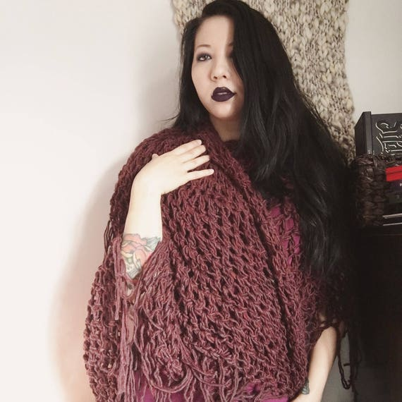 arwen half moon shawl, 100% wool
