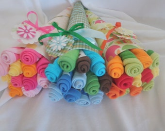 Washcloth Baby Bouquet for Girl, Boy, or Gender Neutral