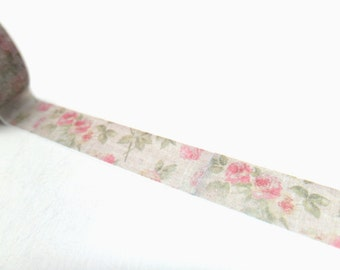 Vintage Rose Washi Tape 15 mm x 10 m