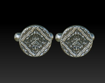 cuff links cufflinks mens cuff links gift for men mens jewelry silver cuff links round cuff links CR1