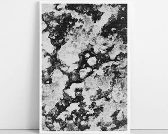 Marble Print, Abstract Texture Wall Art, Black & White Photography, Monochrome Art, Home Decor, Large Printable Poster, Digital Download