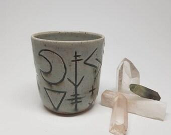Magic Tumbler, Stoneware Cup, Ceramic, Handcrafted