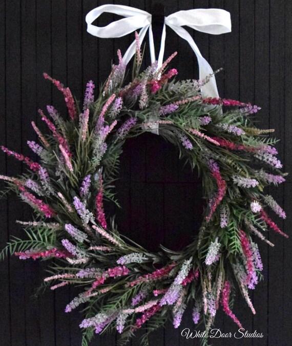 Pink Lavender Wreath