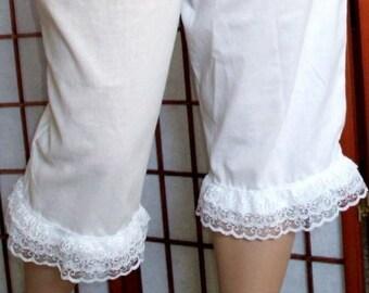 Renaissance Bloomers Pantaloons Womens XS - XLg Cotton Custom Made