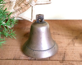 Vintage Brass Bell, Dinner Bell, Cow Bell, Gift for Teacher