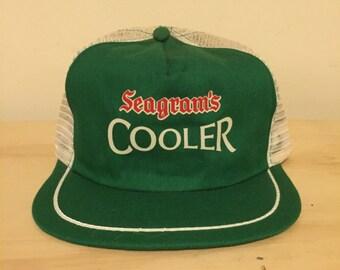 vintage seagram's cooler snapback hat