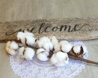Cotton Stem, Cotton Branch, Cotton Boll Pods, Faux Cotton, Cotton Wreath, Wreath Making