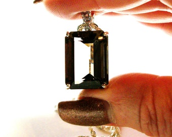 """Smokey quartz, smokey quartz pendant, brown smokey quartz, cocktail pendant, accent pendant   """"Hopscotch"""""""