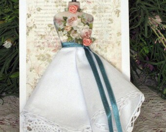 Hands of Time Dress Form Hanky Card
