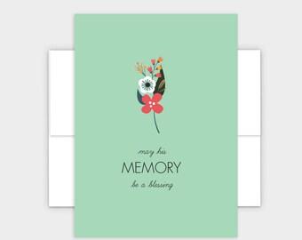 May His Memory Be A Blessing - Jewish Condolences Card