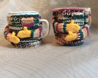 Coffee cup sweater,Mom, Cup sweater,Easter cup wrap, sweetheart gift,conversation piece,white mug sweater,office gift, mug-cozy, centerpiece