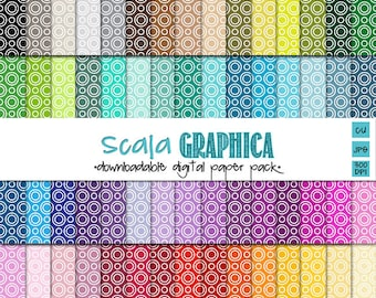Circle Within Digital Paper Basic 36 [Instant Download]