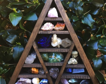 Large Triangle Crystal Display Shelf
