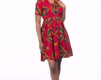 Dero African Ankara Dress (Reduced price)