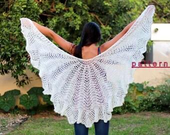 Knit Shawl Pattern Lace shawl pattern Knit shawl PDF tutorial Women's Scarf Pattern Shawl pattern  Handmade shawl