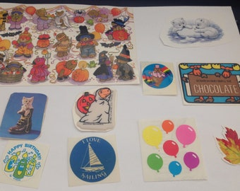 Vintage  Lot Of Vintage  Stickers 80s 1980s
