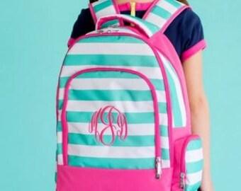 Monogram Skylar Stripe Backpack