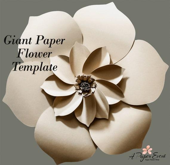 Paper flower template diy paper flower diy backdrop paper maxwellsz