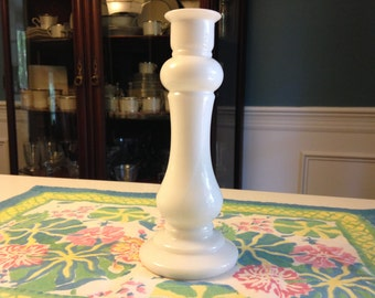 Vintage E O Brody Co. Milk Glass Candle Holder