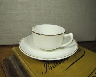 Vintage Homer Laughlin Demitasse Teacup and Saucer Set