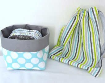 To order - set of 20 wipes maxi + basket + pouch