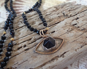 Obsidian and Black Agate Necklace