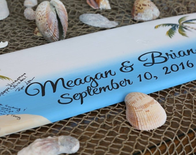 Surfboard Guestbook idea, Wood  Guest book Wedding Sign, Beach Wedding Decor, Nautical Wedding Gift Idea