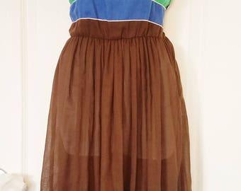 "70's Retro Color Block Dress - ""Jonathan"""