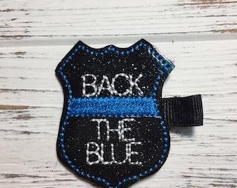 Back The Blue Hair Clip