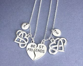 Set Of 2 Best Friend Necklace Set Of Two 925 Sterling Silver Friendship Necklaces No Matter Where Distance Necklace Jewelry Gift For Friends
