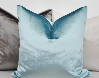 Blue Velvet  Pillow Cover,Blue Pillow Cover