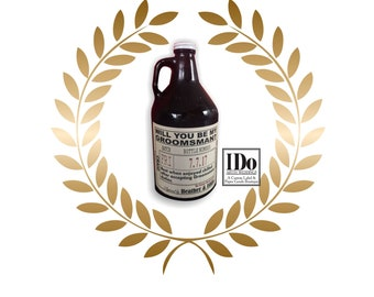Growler Label - Will you be my Groomsman - Wedding Groomsman Liquor Labels - Will you be my Best Man - Groomsmen Labels