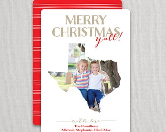 "Christmas Photo Card - ""State Love"" 2 sided printing!"