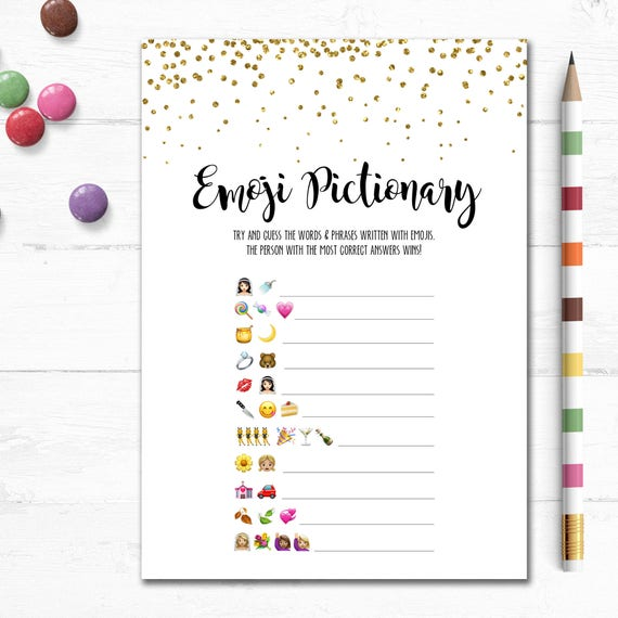 Tactueux image intended for wedding emoji pictionary free printable