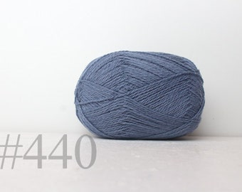 WOOL yarn 100%-knitting yarn - pale blue #440