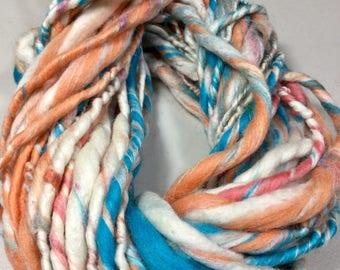 24.5 yd Skein Single Thick Thin Merino Wool Soy Silk Free Combined Shipping Fiber Art Felt Knit Crochet Supply