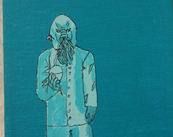 Dr Who Ood Painting Blue