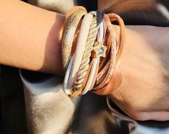Royal leather bracelet