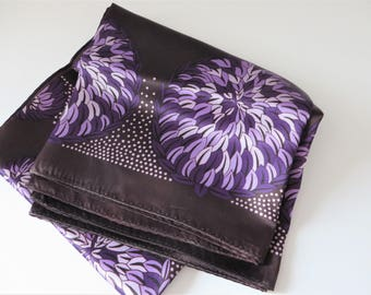 Hammura vintage 1960's purple and lavender scarf