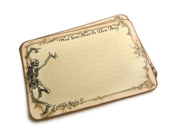Skeleton Recipe Cards, Funny Halloween Recipe Cards, Spell Recipe Cards, Wiccan / Pagan, Potion Recipe Cards, 4 x 6 Recipe Cards, Set of 12