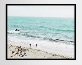 Sea print, Beach art, Minimalist, Nature, Modern art, Wall decor, Digital art, Printable, Digital poster Instant Download 8x10, 11x14, 16x20