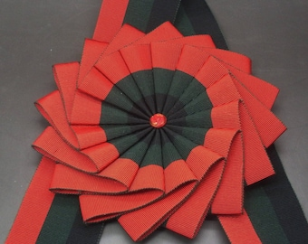 Black, Green and Red Wheel Cocarde Applique