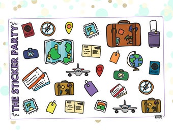 Travel Vacation Planner Stickers